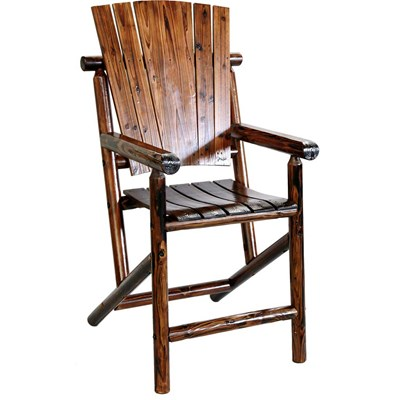 Char-Log Wooden Bar Chair