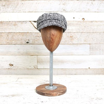 Metallic Plaid Cabbie Hat