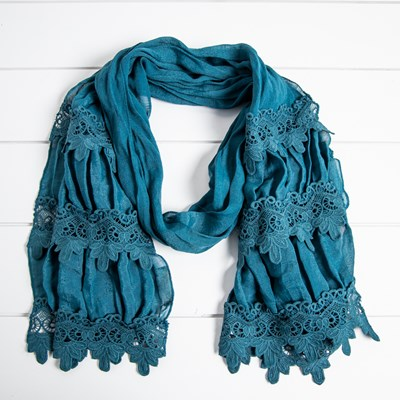 Lace Scarf - Teal