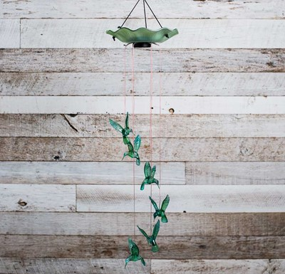 Solar Hummingbirds Wind Chime