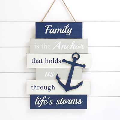 Family Is The Anchor Hanging Sign