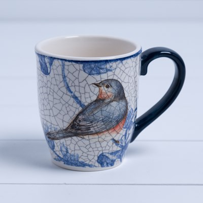 Stoneware Blue Bird Mug