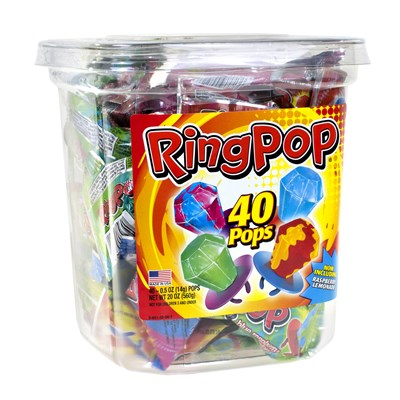 Candy Ring Pops - 40 Count