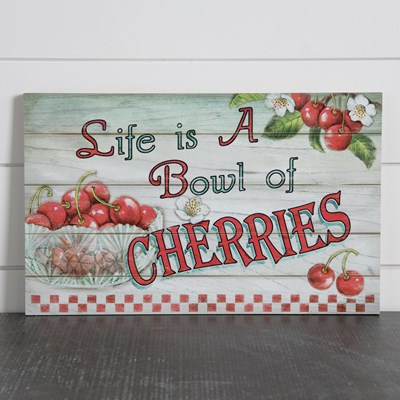 Bowl of Cherries Wall Decor