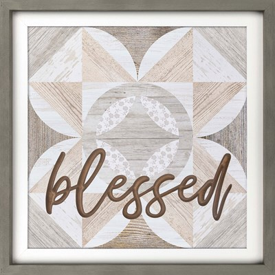 """Blessed"" Framed Wall Decor"