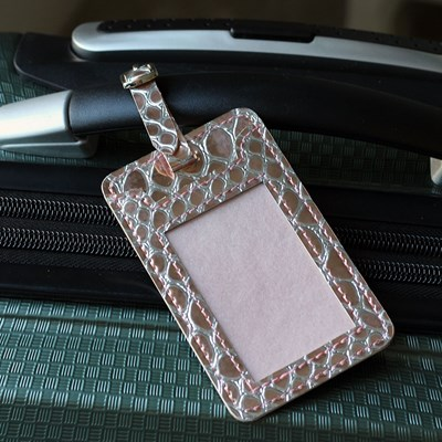 Rose Gold Luggage Tag