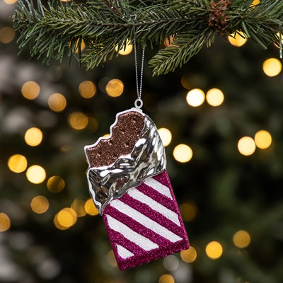 Ice Cream Sandwich Ornament - Pink