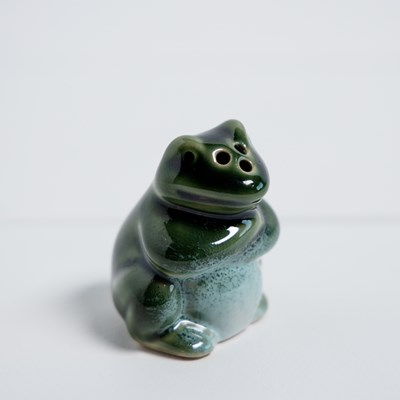 Stoneware Mini Frog Pepper Shaker