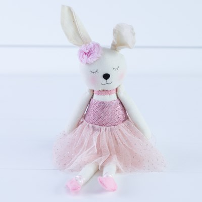 Sequin Top Bunny Doll