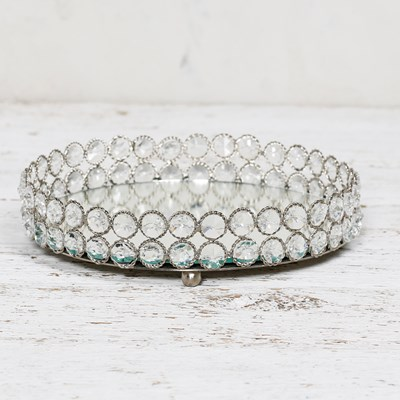 Decorative Crystal Beaded Tray