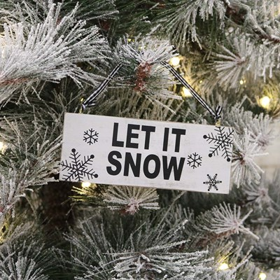 Let It Snow Sign Ornament
