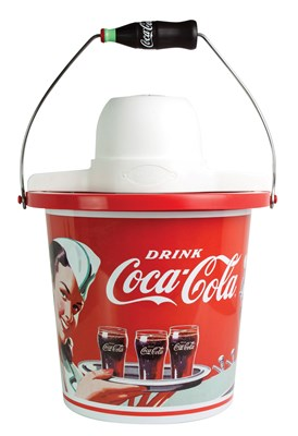 4-Quart Vintage Coca-Cola Ice Cream Maker