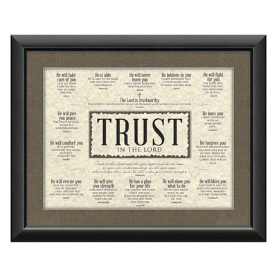 """Trust"" Framed Art"