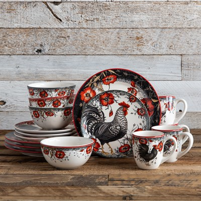 Stoneware 16 Piece Dinnerware Set