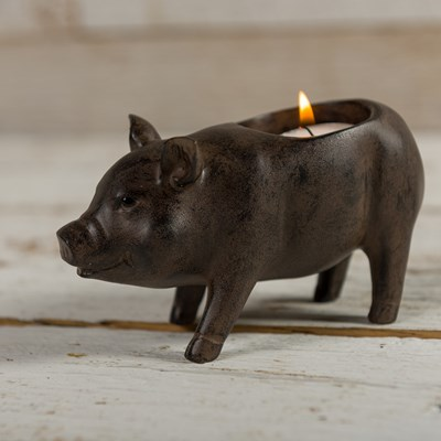 Pig Tealight Holder - Standing
