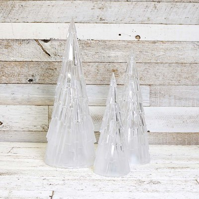 LED Acrylic Christmas Trees - Set of 3