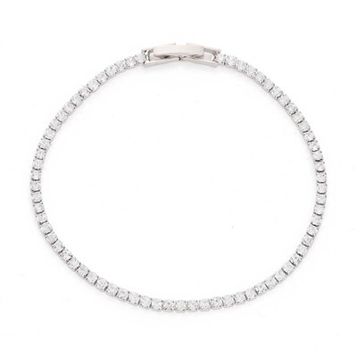 White Rhodium Plated Crystal Bracelet