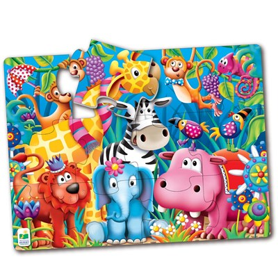Jungle Friends 12-Piece Big Floor Puzzle