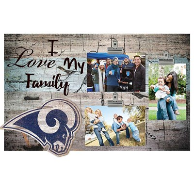 Los Angeles Rams - I Love My Family Clip Frame