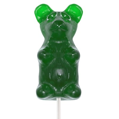 Giant Gummy Bear on a Stick Sour Green Apple - 0.5lbs.