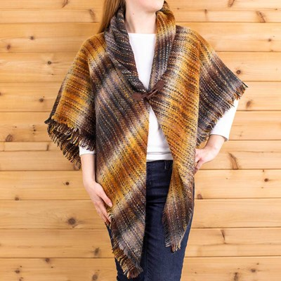 Multi Stripe Toggle Shawl
