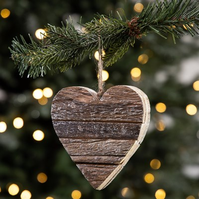Bark Heart Ornament