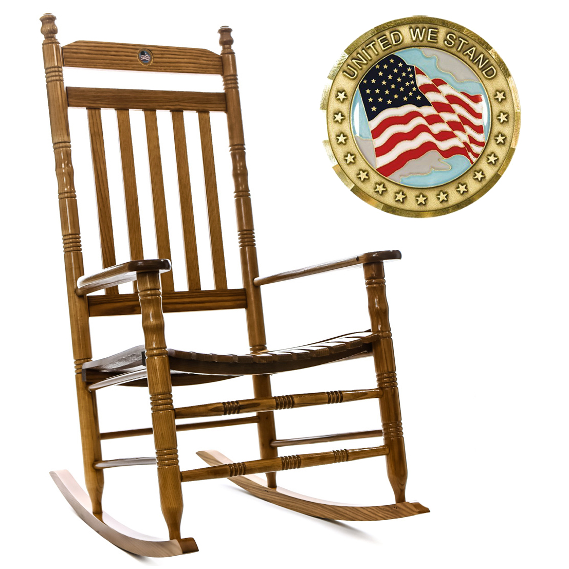 Awesome U S Flag Rocking Chair Unemploymentrelief Wooden Chair Designs For Living Room Unemploymentrelieforg