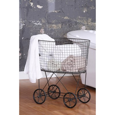 Vintage Laundry Baskets with Wheels