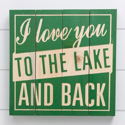 """To the Lake and Back"" Wood Wall Decor"