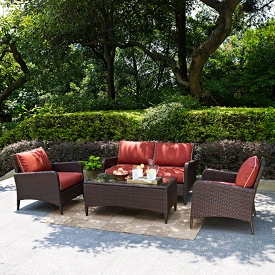 Kiawah 4-Piece Wicker Conversation Set