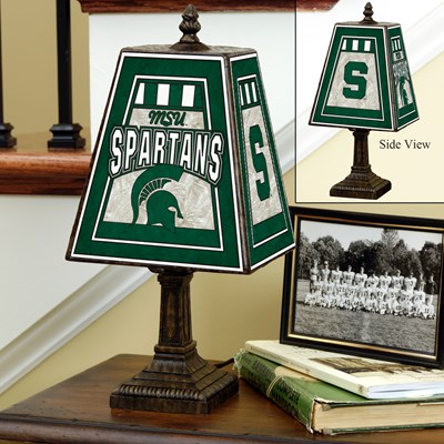 Art Glass Lamp - Michigan State