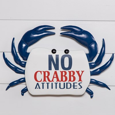 No Crabby Attitudes Wall Decor