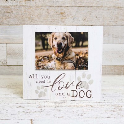 Love and a Dog Photo Frame