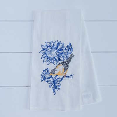 Blue Bird Flour Sack Kitchen Towel