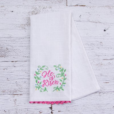 """He Is Risen"" Kitchen Towel"