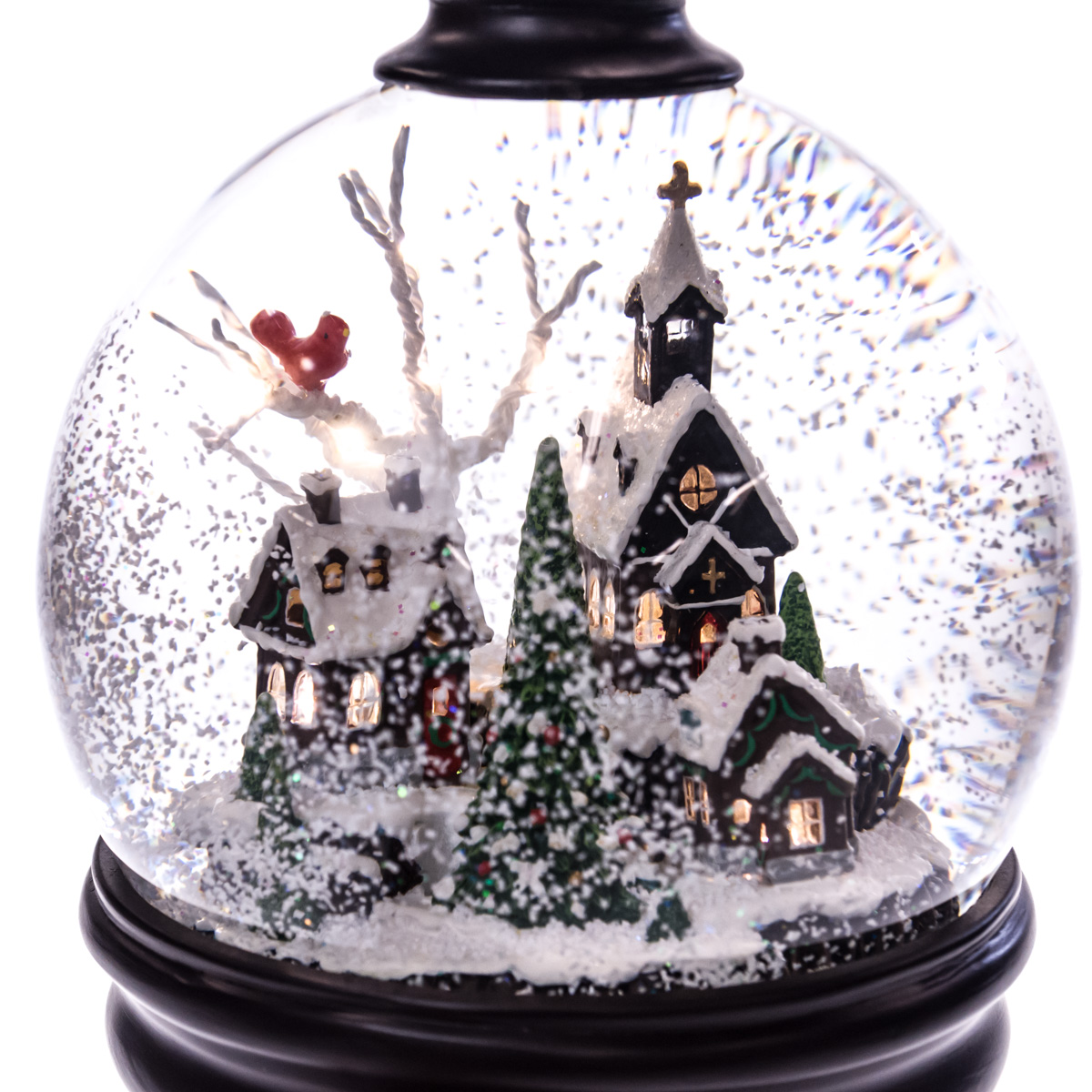 Snow Scene Pedestal Snow Globe | Collections | Traditional Christmas ...