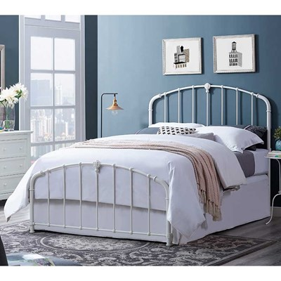 Hazel Metal Headboard and Footboard - Queen