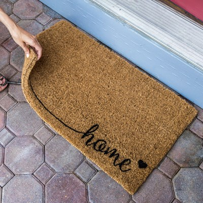 """Home"" Handwoven Coir Doormat"
