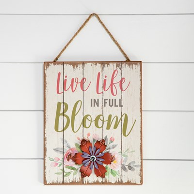In Full Bloom Hanging Sign
