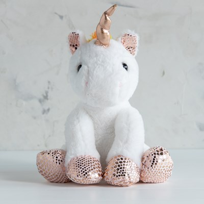 Unicorn with Rose Gold