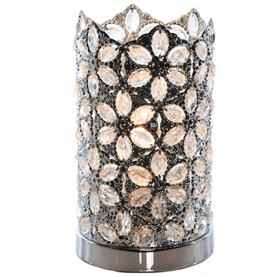 Jeweled Chrome Uplight Accent Lamp