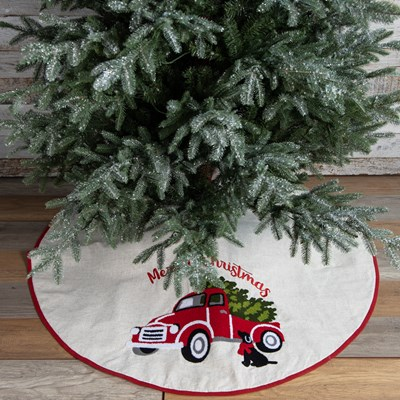 Red Truck Christmas Tree Skirt