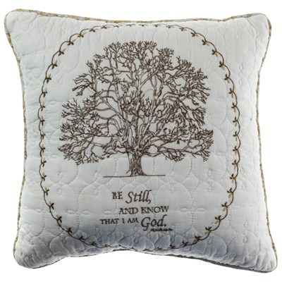 Tree of Life Quilted Decorative Pillow