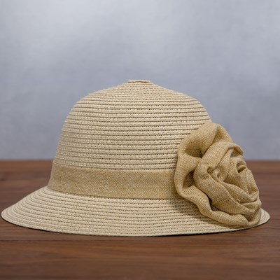 Straw Flower Cloche Hat