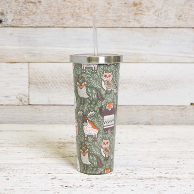 Woodland Design 24oz Tumbler with Straw