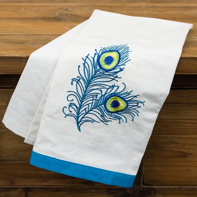 Peacock Feather Towel