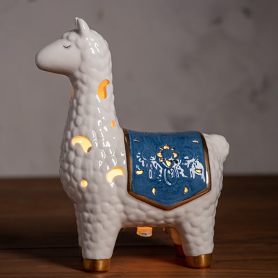 Stoneware Llama Accent Light