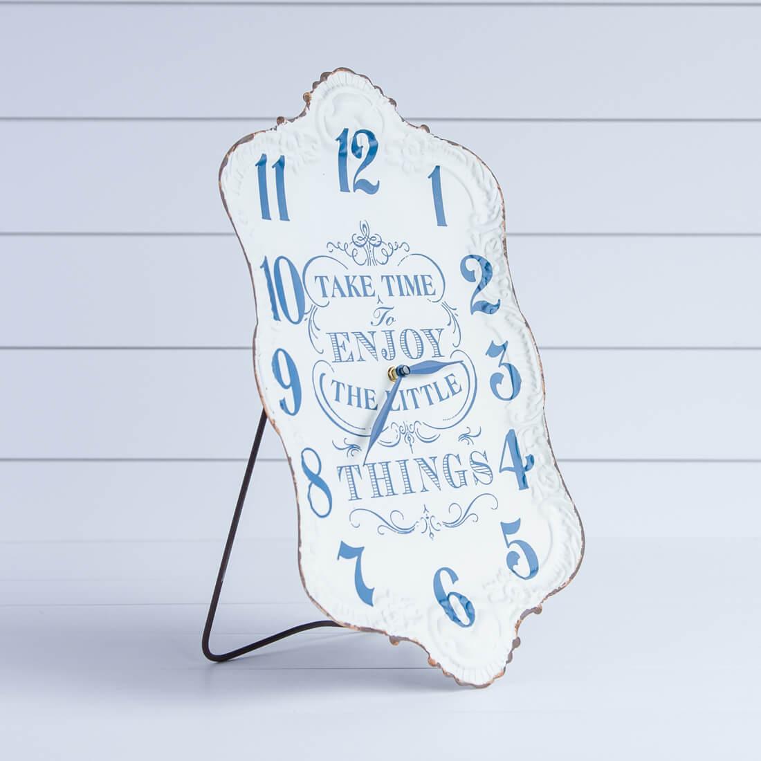 Enjoy the Little Things Metal Wall Clock