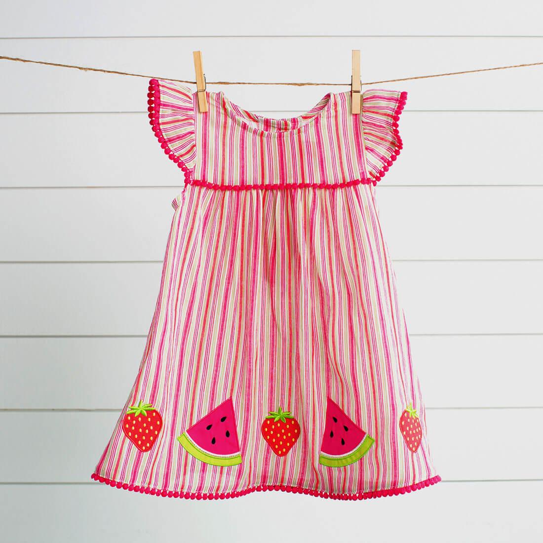 Striped Applique Dress