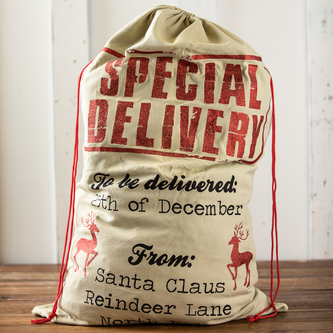 Fabric Christmas Sack